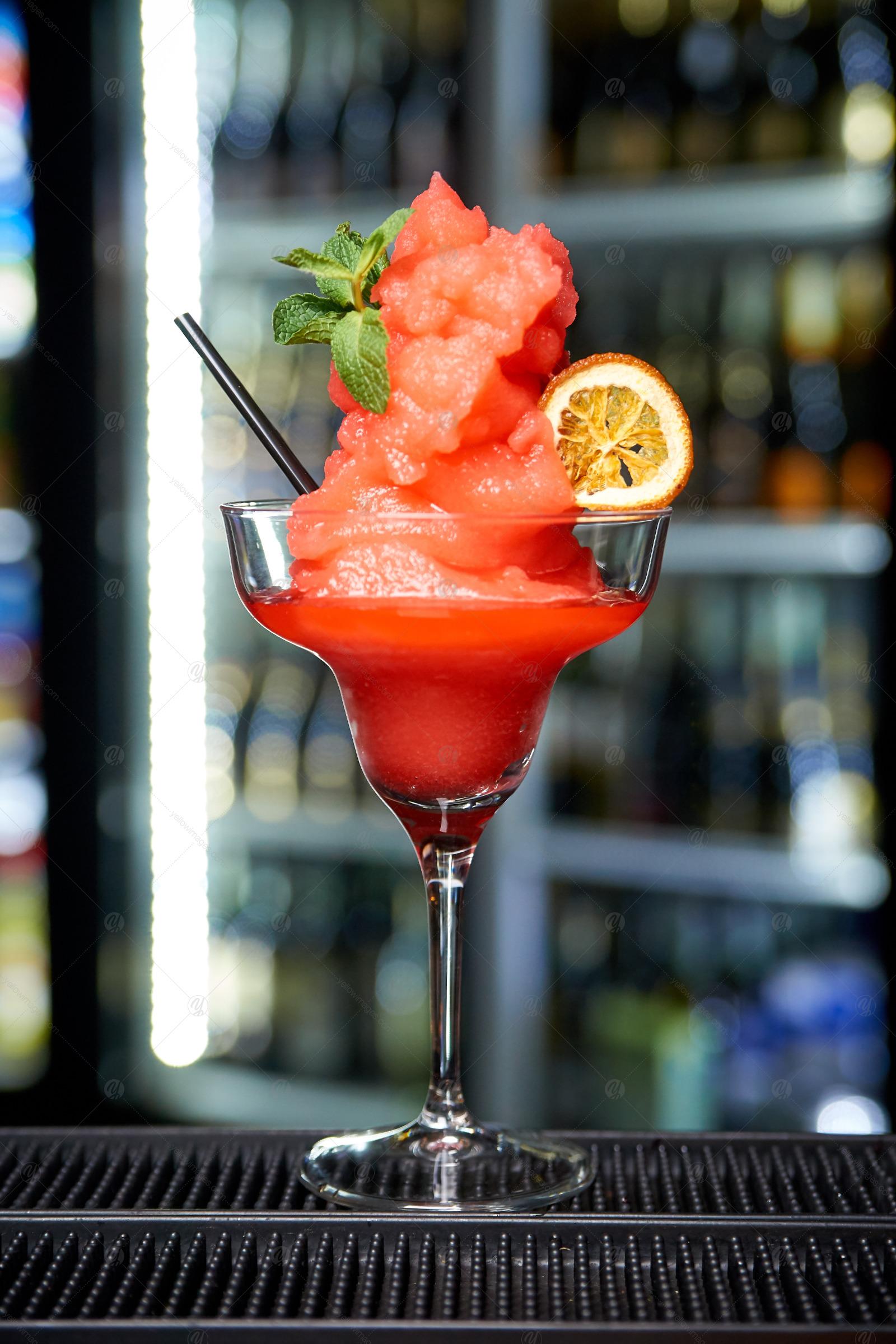 Alcoholic drinks night bar