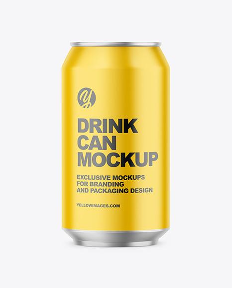 330ml Matte Drink Can Mockup