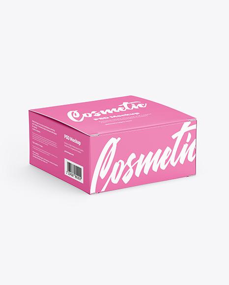 Box with Cosmetic Jar Mockup