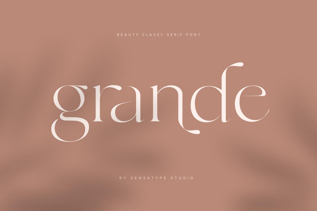 Grande - Beauty Classy Serif Font