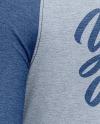 Raglan Long Sleeve T-Shirt Mockup