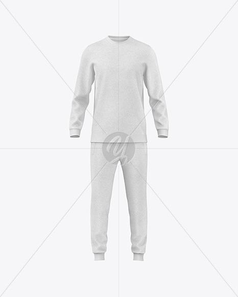 Melange Sport Suit Mockup - Front View