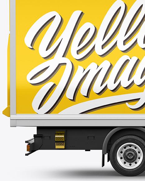 Box Truck Mockup - Side View
