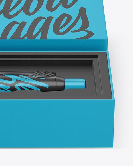 Matte Pen in Box Mockup