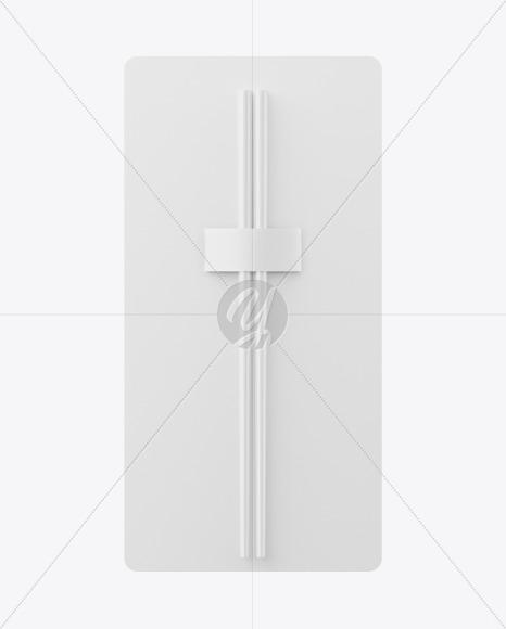 Chopsticks in Matte Pack Mockup