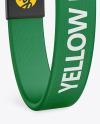 Textile Fabric Wristband Mockup