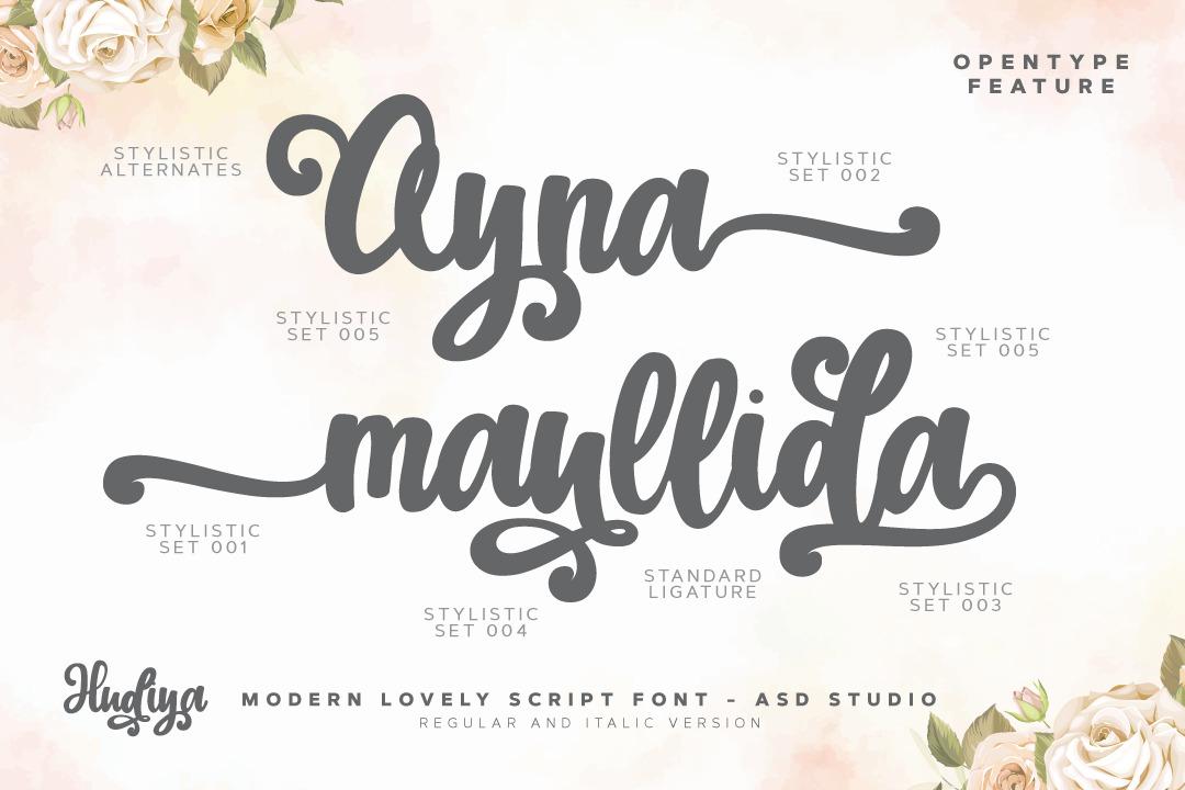 Hudiya - Modern Lovely Script