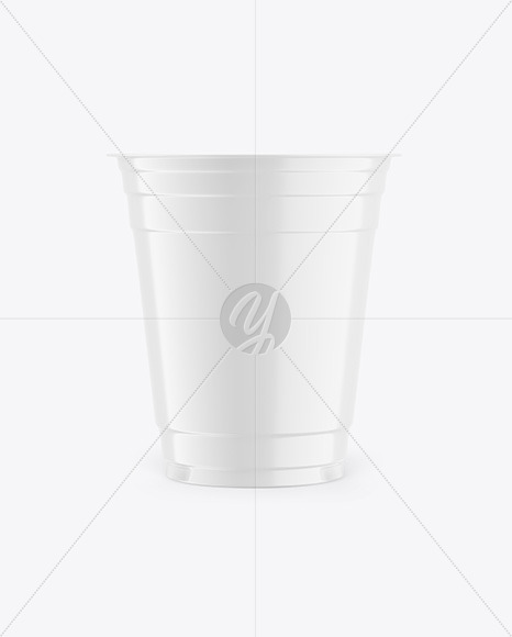 Glossy Plastic Cup Mockup