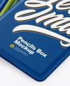 Opened Matte Box w/ Pencils Mockup