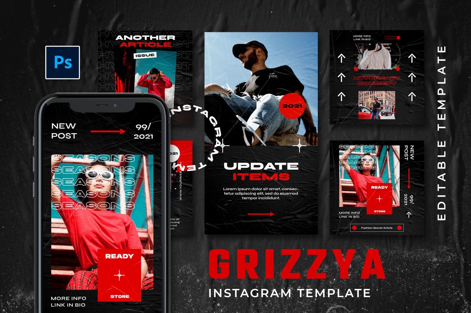 Grizzya Instagram Template