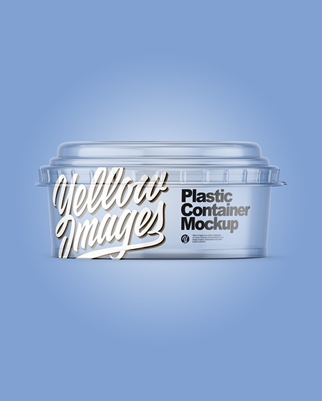 Clear Plastic Container Mockup