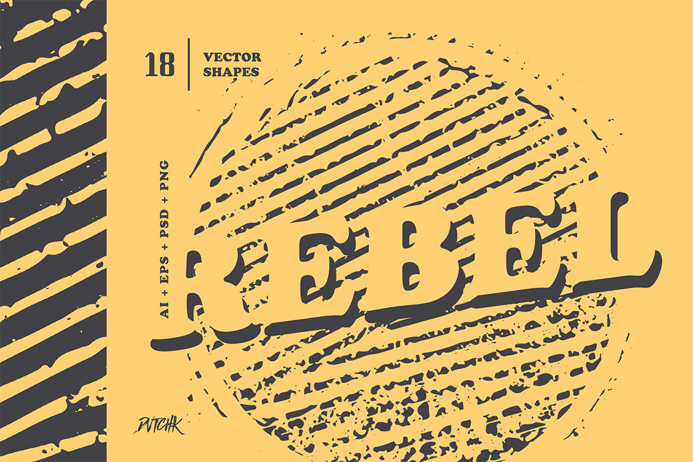 Rebel | Geometric Grunge Shapes
