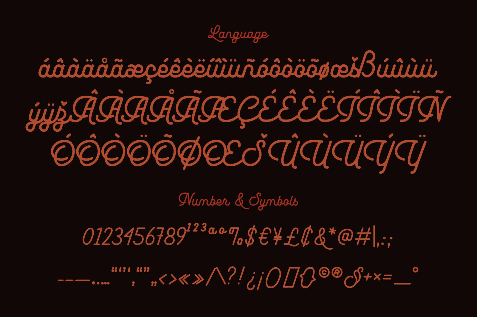 Leuthikline - Beautiful Monoline Font