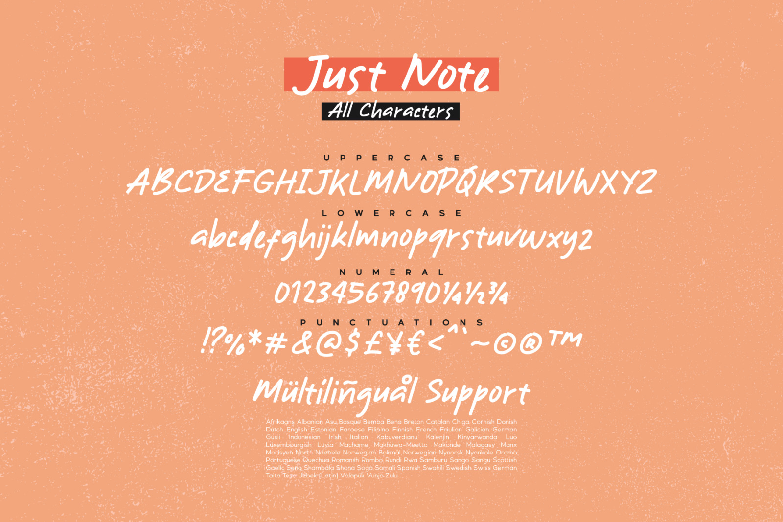Just Note - Font and Doodle