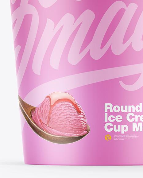 Two Matte Ice Cream Cups Mockup