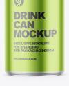 150ml Matte Metallic Drink Can Mockup