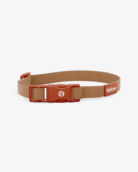 Leather Pet Collar Mockup