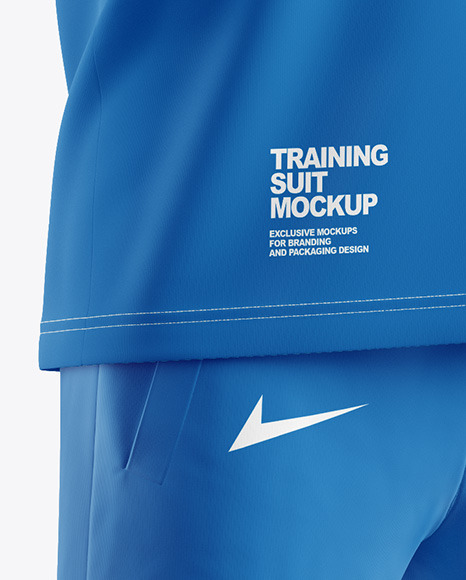 Men's Training Suit Mockup - Half Side View