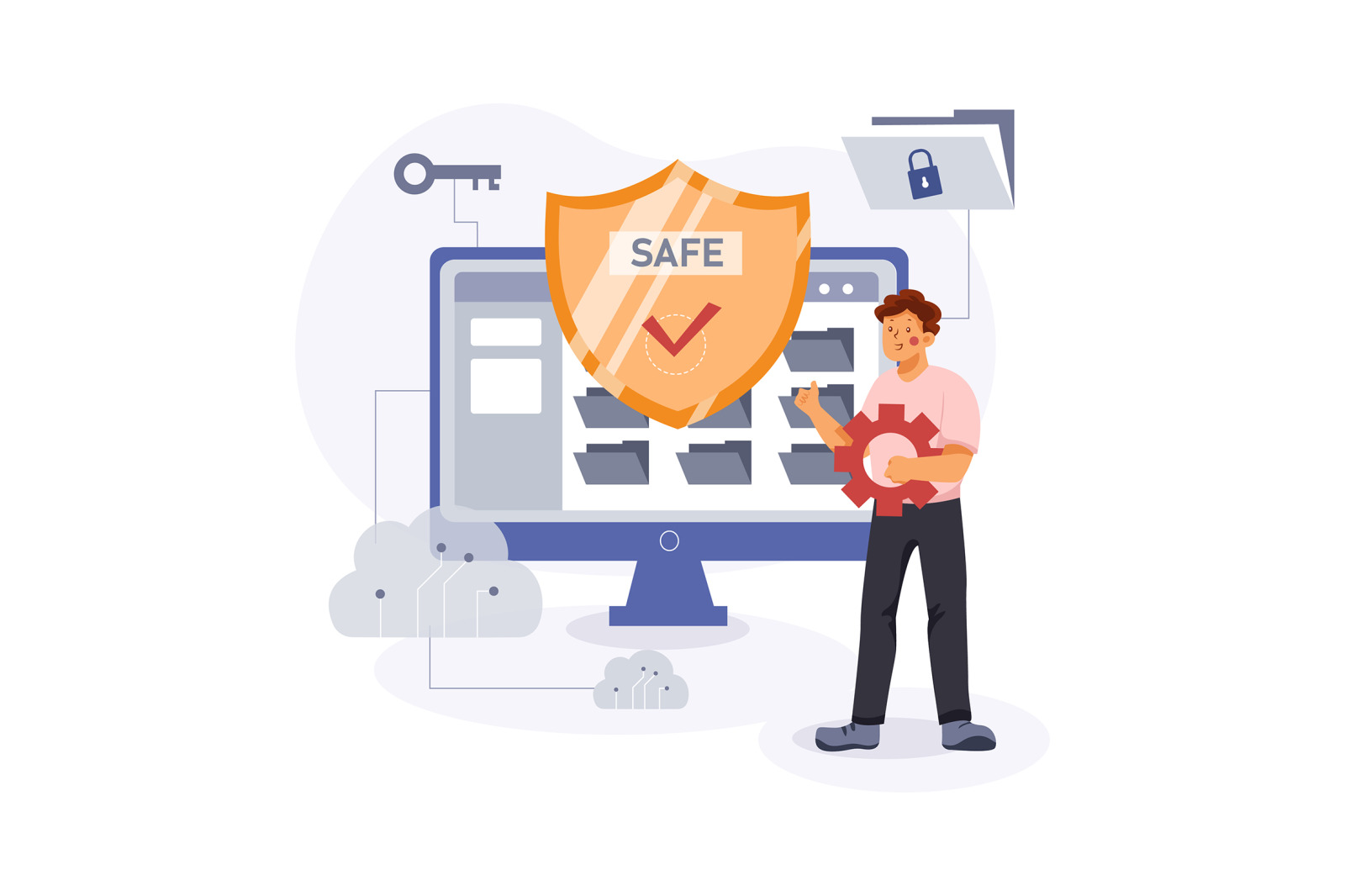 M300_ Cyber Security Illustrations