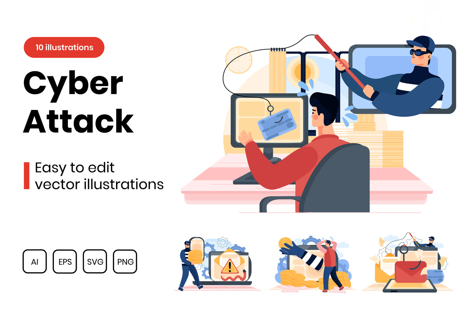 M291_ Cyber Attack Illustrations