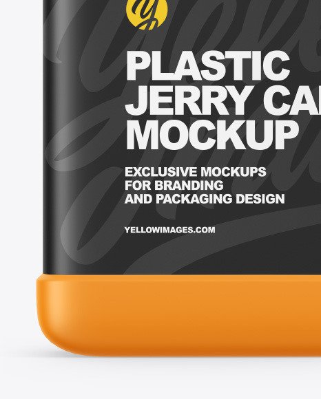 Plastic Jerry Can Mockup