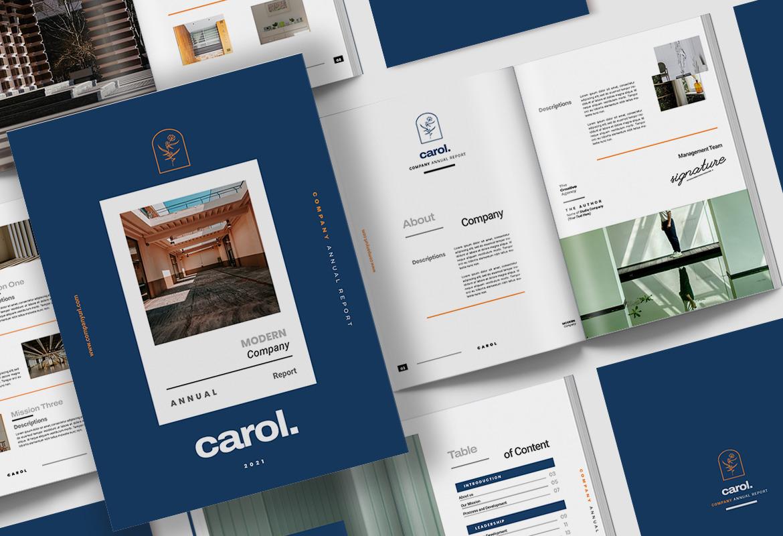 Carol Company Annual Report Indesign