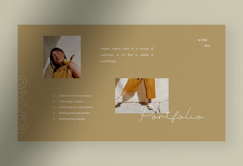 &Pau - Minimalist Brand Strategy PPT