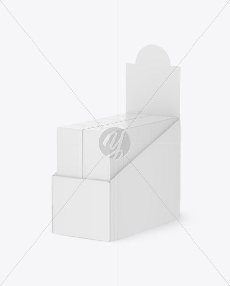 Plastic Display Stand w/ Boxes Mockup