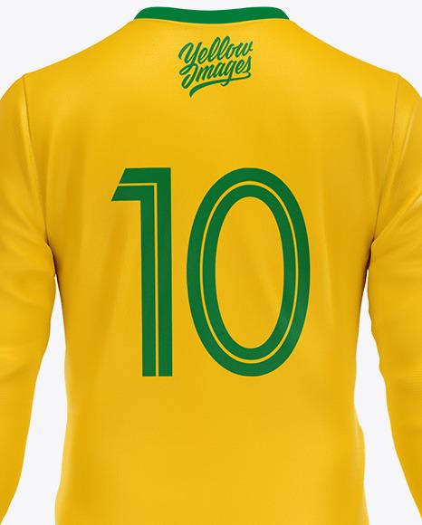 Football Kit Long Sleeve Mockup – Back View
