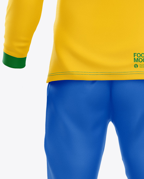 Football Kit Long Sleeve Mockup - Back View