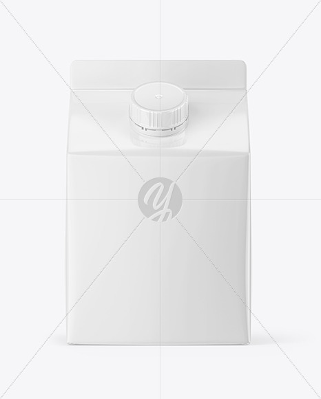 Glossy Carton Pack with Screw Cap Mockup