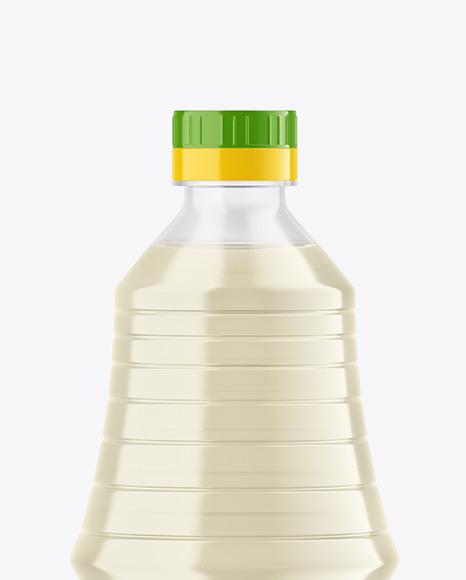 Clear Plastic Vinegar Bottle Mockup
