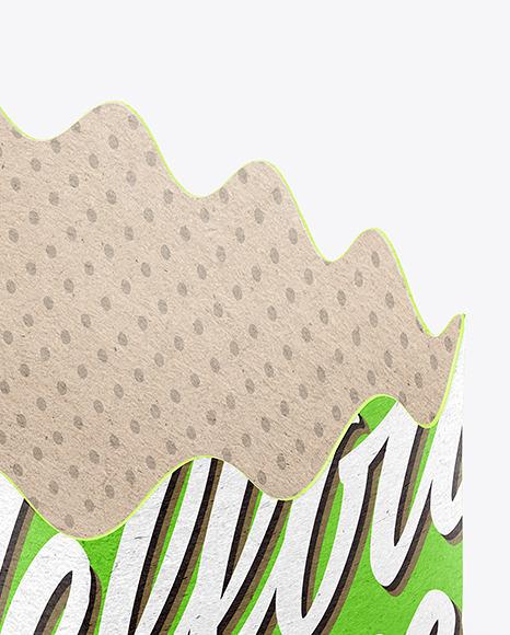 Empty Kraft Paper Basket Mockup