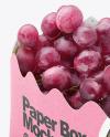 Kraft Paper Basket with Grapes Mockup