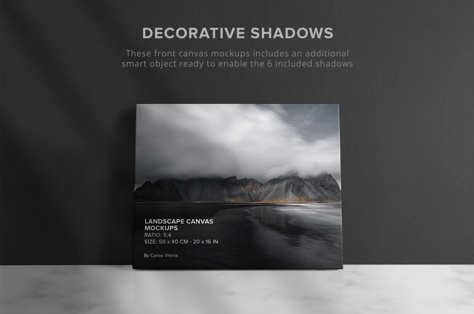Landscape Canvas Ratio 5x4 Mockups Set