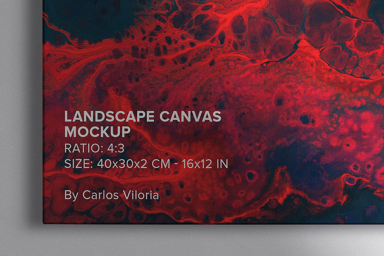 Landscape Canvas Ratio 4x3 Mockups Set
