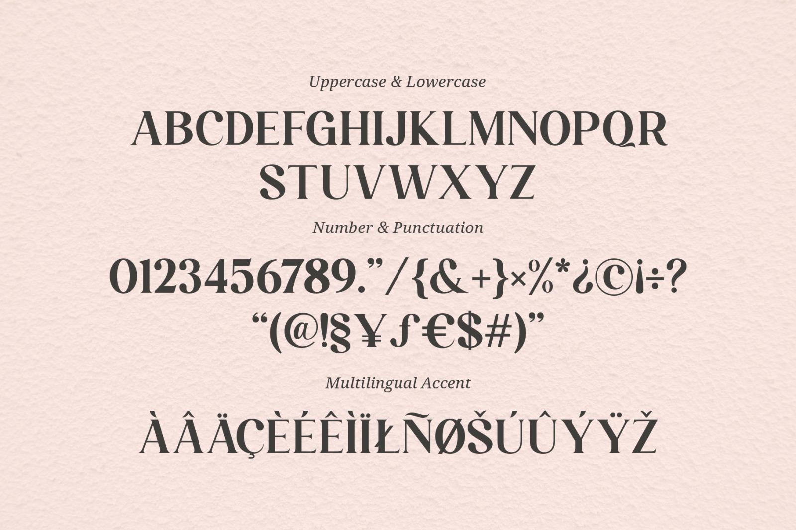 Larissa Ligature Typeface