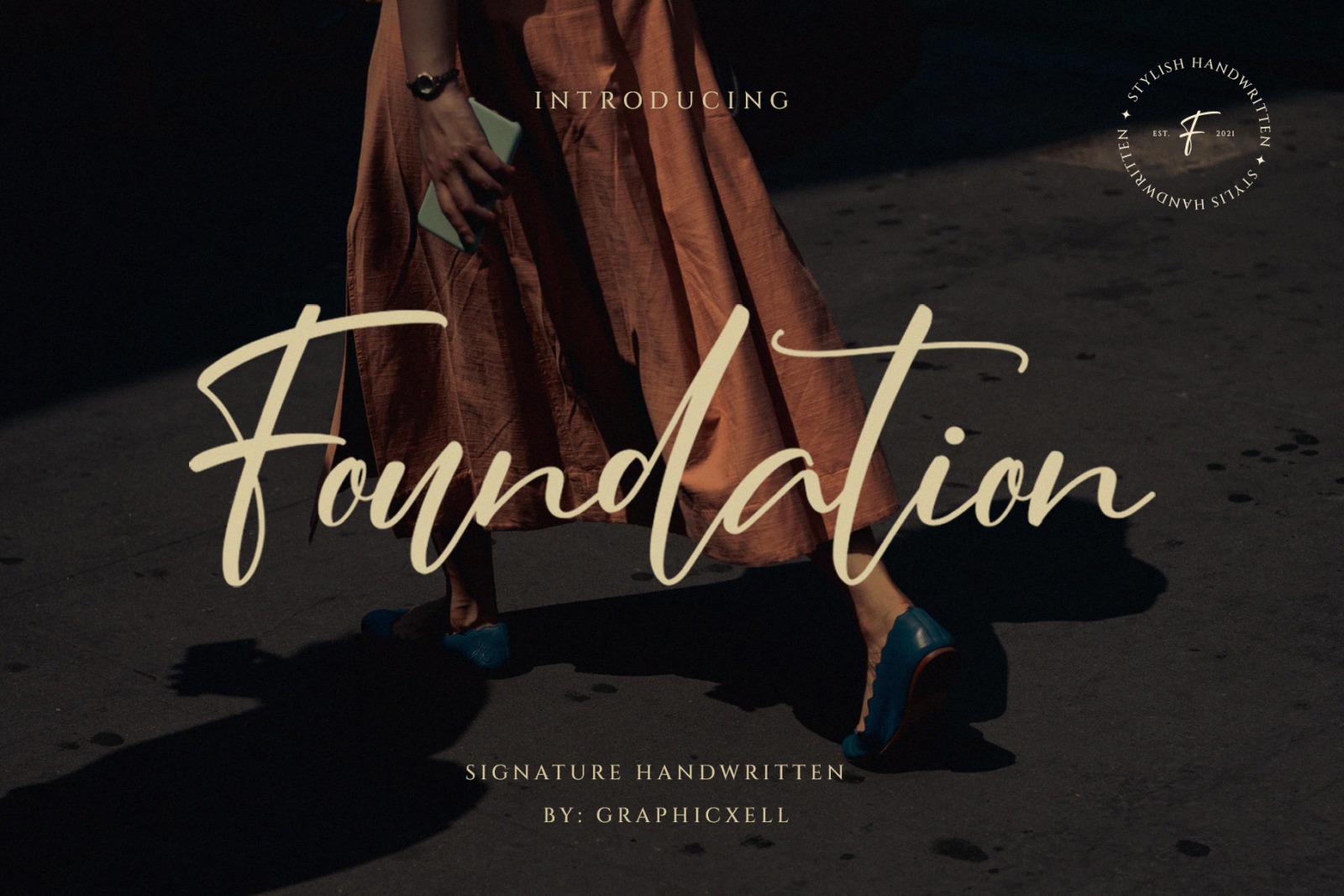 Foundation Signature Font
