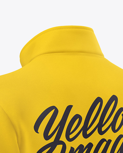 Men's Full-Zip Sweatshirt Mockup - Back Half Side View