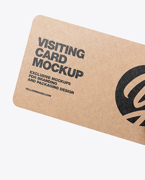Kraft Business Card in a Hand Mockup