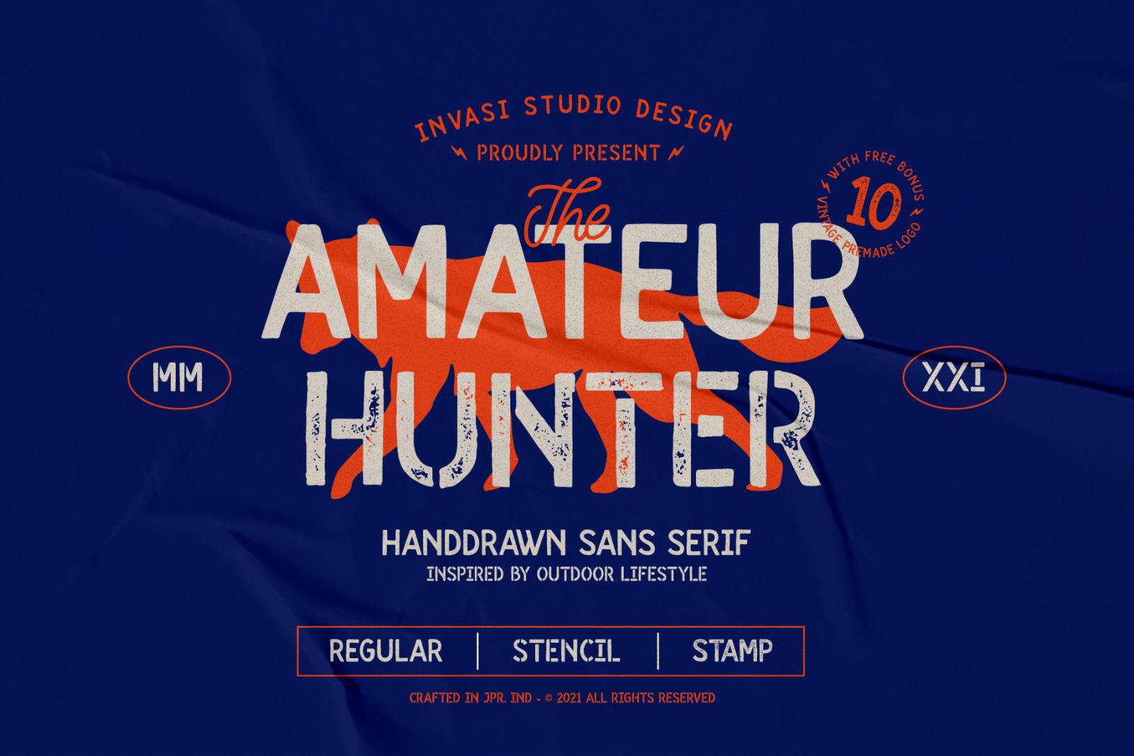 Amateur Hunter - Handdrawn sans