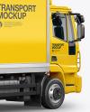 Box Truck Mockup - Back Half Side View