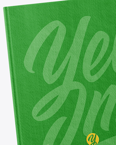 Fabric Hardcover Book in a Hand Mockup