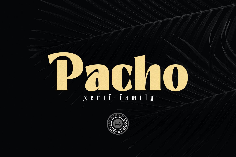 Pacho - Serif Family