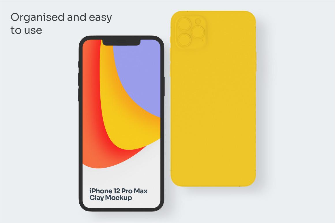 Clay iPhone 12 Pro Max Mockups