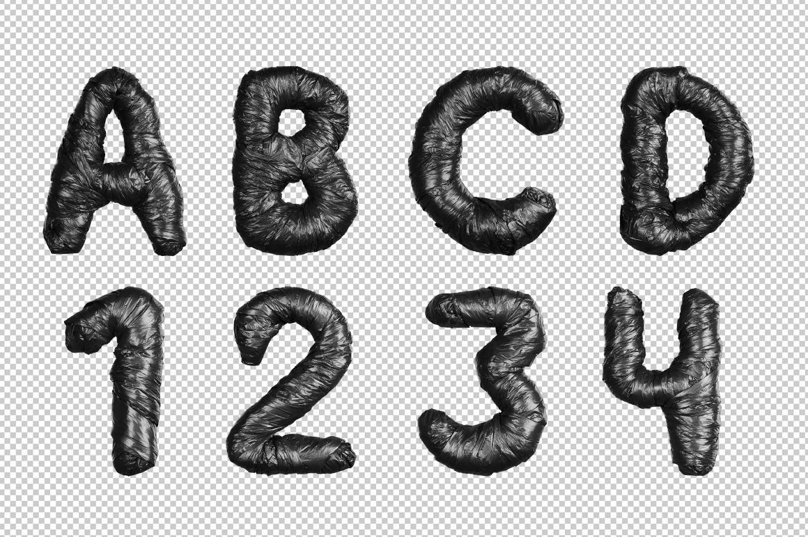 Black Garbage Bag Font