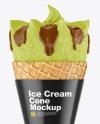 Ice Cream Cone Mockup