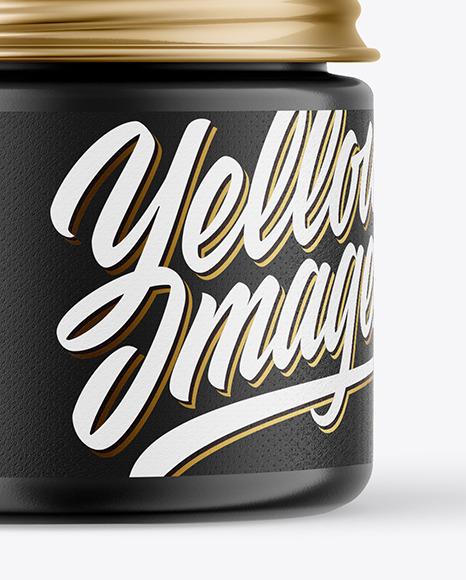 60ml Matte Jar w/ Metallic Cap Mockup