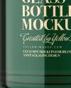 Glass Cosmetic Bottle Mockup