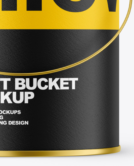 Textured Paint Bucket Mockup